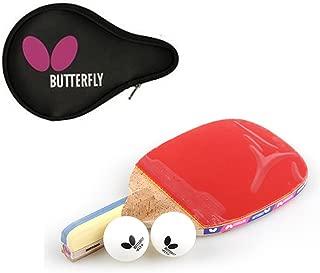 Butterfly NAKAMA P-9 Table Tennis Racket Paddle (Penholder) + Logo Full case