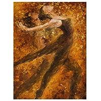 油絵数字キットによる絵画デジタル絵画油絵 数字キットによる絵画手塗りDIY絵デジタル油絵塗り絵 - 黒のドレスダンスの美しさ