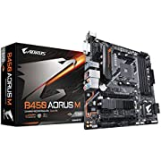 GIGABYTE B450 AORUS M (AMD Ryzen AM4/Micro ATX/M.2 Thermal Guard/HDMI/DVI/USB 3.1 Gen 2/DDR4/Motherboard)