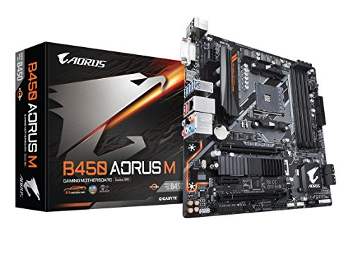GIGABYTE B450 AORUS M (AMD Ryzen AM4/Micro ATX/M.2 Thermal Guard/HDMI/DVI/USB 3.1 Gen...