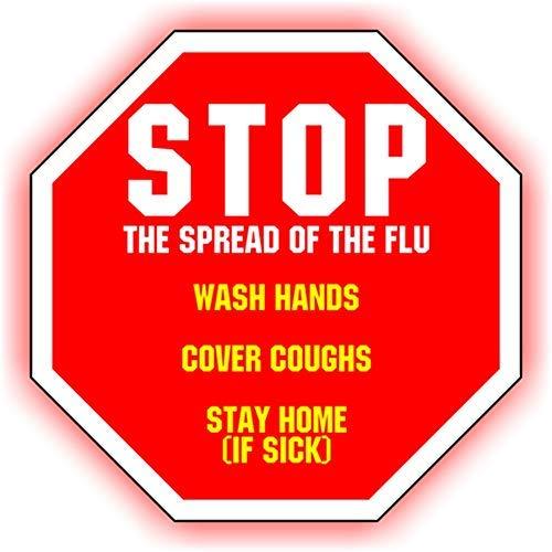 Cartello di sicurezza Vinly Decal – Stop Coronavirus – Segnale di sicurezza per dispositivi di protezione individuale, cartello di sicurezza previene COVID-19 (10'' x 13''), Stop Coronavirus, Set di