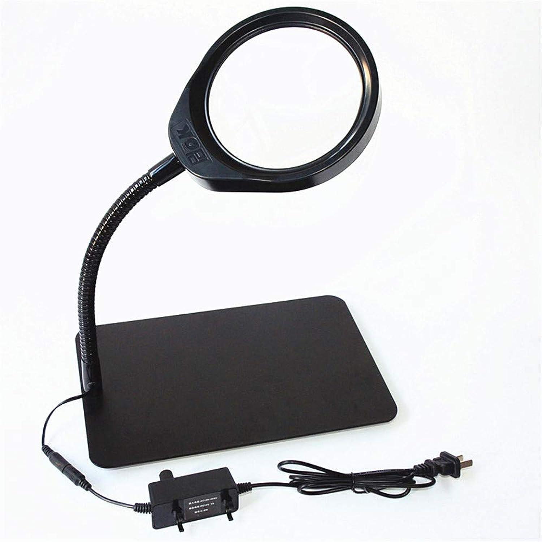 barato SXY888 Soporte USB de de de Metal Manguera HD Lente de Vidrio blancoo 032C Lupa de sobremesa con luz ( Color   negro )  wholesape barato