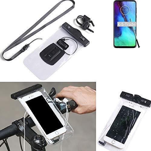 K-S-Trade® Para Motorola Moto G Stylus Soporte De Bicicleta para Teléfono Móvil Manillar Montaje Impermeable A Prueba De Agua Conector para Auriculares Funda para Teléfono Inteligente Ciclismo
