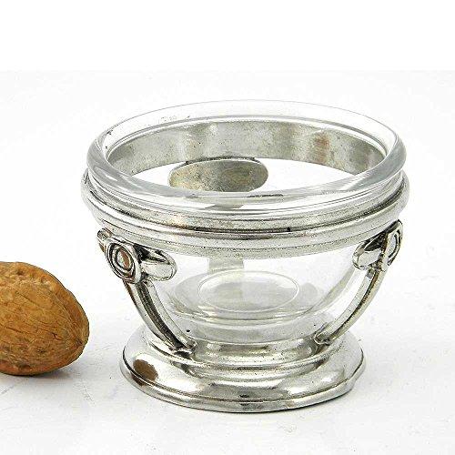 Cavagnini fruitschaal van hard tin, handgemaakt