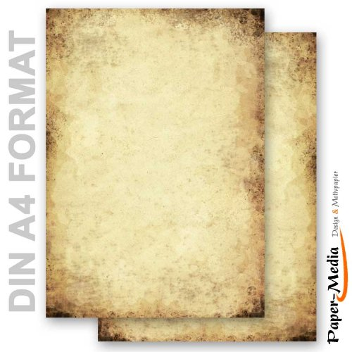 Briefpapier - Motivpapier ALTES PAPIER (Beidseitig) 20 Blatt DIN A4 90g/m²