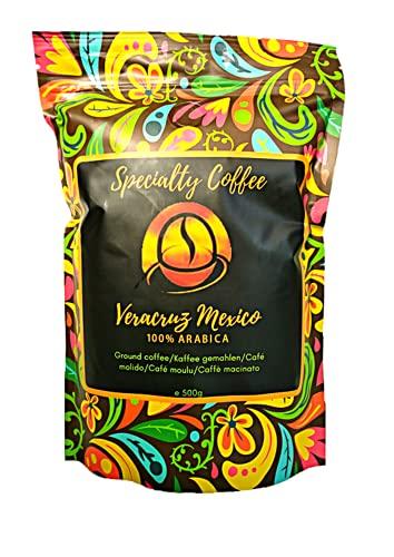 Spezialitätenkaffee aus Mexiko 500g| Röstkaffee gemahlen 100% Arabica| Langsame Crema Trommelröstung| Säurearm und sortenrein| Frische Ernte| Ohne Zusatzstoffe