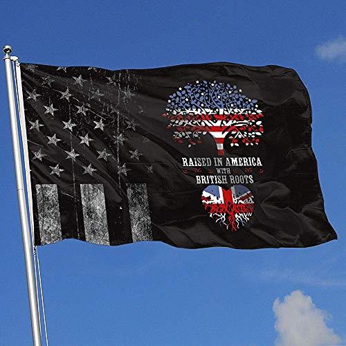 Elaine-Shop Abgenutzte Außenflaggen USA Flagge in Amerika mit britischen Wurzeln 4 * 6 Ft Flagge für Wohnkultur Sport Fan Fußball Basketball Baseball Hockey gehisst