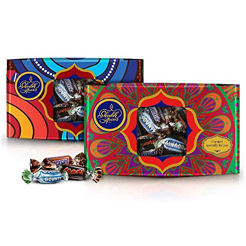 Snickers Shubh Avsar Mixed Miniatures Chocolate Gift Pack, Mosaic- 150g (Pack of 2)