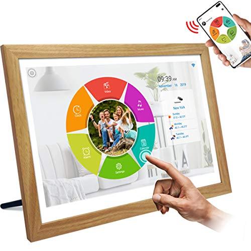 ZHBD WiFi Digital-Bilderrahmen, 15,6-Zoll-IPS-Touchscreen HD-Display, Automatisch Drehen, Fotos & Videos Teilen, Wandmontage Smart Cloud Digitaler Fotorahmen