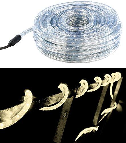 Guirlande à LED étanche IP44 (20 m) - Blanc chaud [Lunartec]