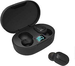 Sangmei Fones de ouvido E6S BT Fone de ouvido sem fio portátil TWS Fone de ouvido intra-auricular IPX4 à prova d'água Mini...