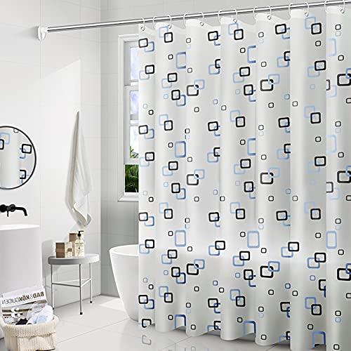 Cortinas de Ducha Baño,Cortina de baño,Cortina de Ducha Color Blanco Transparente,Cortina de Ducha antimoho Impermeable,Cortina de Ducha para baño de Agua 3D Transparente (Cuadrado pequeño)