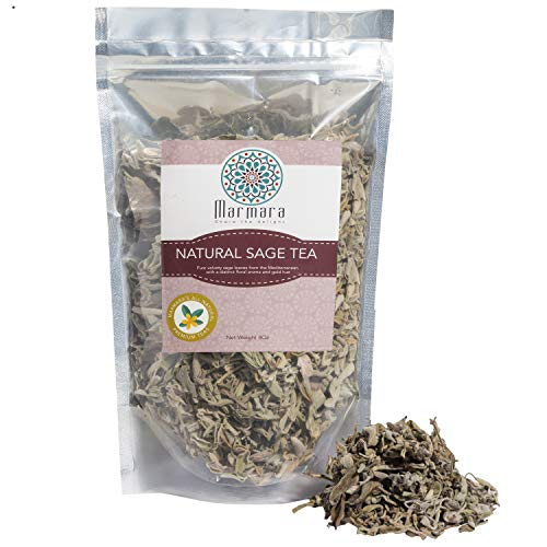 Marmara Sage Leaf Tea All Natural Pure Herbal Loose Aromatic No Sugar No Caffeine 4 Oz Makes 50 Cups