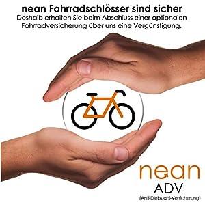 nean Candado plegable para bicicleta con soporte y 2 llaves de seguridad, 20 x 3,5 x 820 mm, color negro