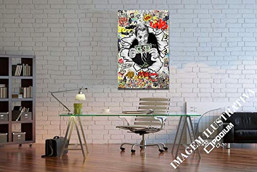 Quadro Decorativo Dolar Lobo wall street