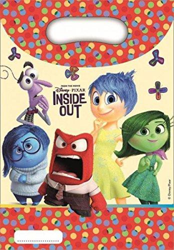 Bolsas de fiesta Disney Inside Out Pack 6 bolsas de regalo para fiestas de cumpleaos y adolescentes