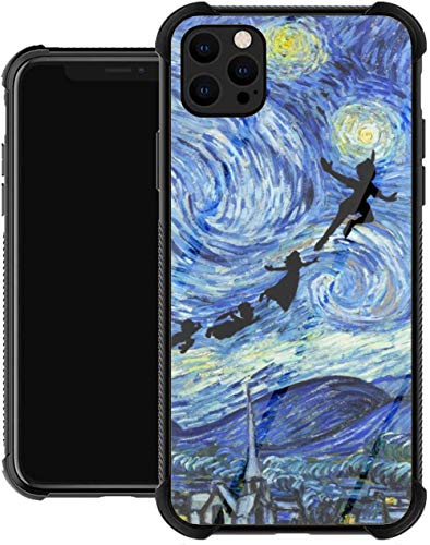 Supporto TPU per iPhone 12/12 Pro Max 12 mini 11 Pro Max SE X XS Max XR 8 7 6 6s Plus Custodie Peter Fractal Pan Cult Fantasy Wendy Neverland Movie Cover nera per custodie per telefoni