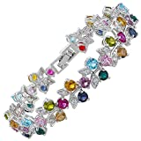 Bracciale con Cristalli Multicolore