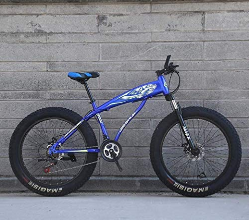 Travel Convenience, 24'/26' 27-Speed Mountain Bike, Big Wheel Snow Bike, A Healthy Trip, Strong Shock-Absorbing Front Fork,Dual Disc Brake, Outdoor Off-Road Beach Bike ( Color : E , Size : 26 inch )