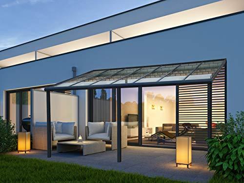 VITRO Terrassenüberdachung Echtglas Aluminium Carport Bausatz 7x4 6x3 5x3 5x3,5m (4 x 3m)