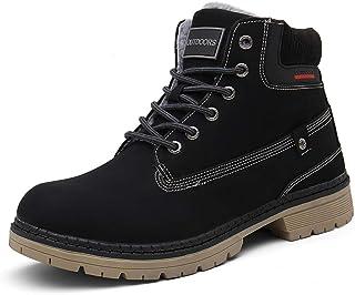 Dannto Bottes Hiver Hommes Chaussures d'hiver Mixte Adulte Doublure Chaude Botte de Neige Fourrée imperméables Botte d'hiv...