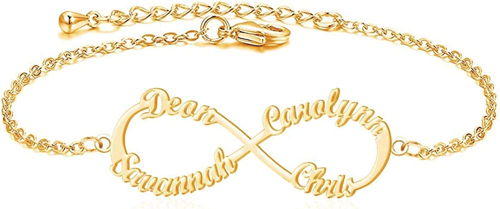 Misshine 8 Infinity Bracelets for Women Brace Name Max Cheap mail order specialty store 54% OFF Personalized
