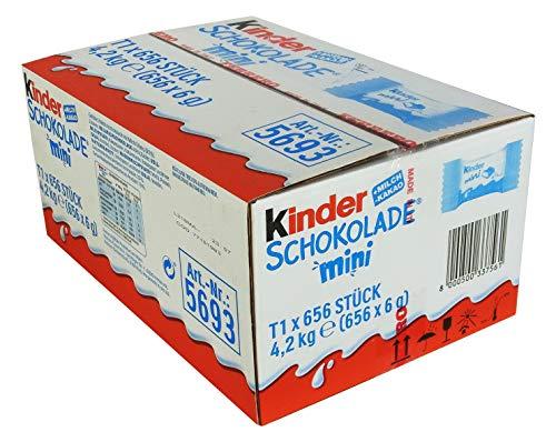 Kinder Schokolade Mini in Einzelverpackung, 656er Pack (656 x Stück)