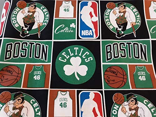 Country Snuggles Celtics NBA Fabric by The Yard (1/2 Yard)