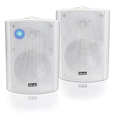 "Bluetooth 5.25"" Indoor/Outdoor Weatherproof Patio Speakers (White- pair)-by Sound Appeal"