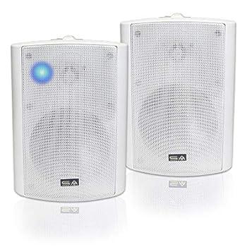 5.25  Indoor/Outdoor Weatherproof Patio Speakers  White- Pair