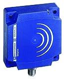 Telemecanique XS7D1A1DAM12 Optimum Series Inductive Proximity Sensor, Heavy-Duty, Plastic 80 x 80 x 26 mm Rectangular Body, 2-Wire DC Wiring, PNP/NPN Input, NO Output, M12 Micro-Connector