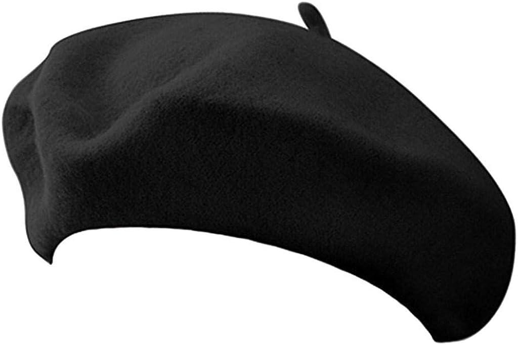 jAc Black Beret 100% Wool French Parisian Hat