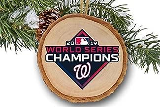 Washington Nationals World Series Champions 2019 Wooden Christmas Ornament, Baseball, MLB, Champs 2019, logo