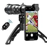 Apexel HD 36X Lente Teleobjetivo, Teleobjetivo Móvil Lente con Trípode y Obturador Remoto para iPhone 12 / 11pro, Samsung Huawei y la mayoría de los Smartphone