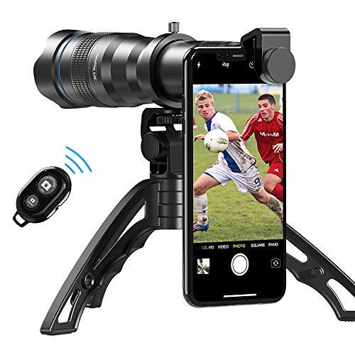 Apexel HD 36X Teleobiettivo, teleobiettivo per cellulare, lente con treppiede e otturatore remoto per iPhone 12 / 11pro, Samsung Huawei e la maggior parte degli smartphone