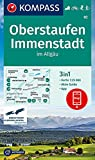 KOMPASS Wanderkarte Oberstaufen, Immenstadt im Allgäu: 3in1 Wanderkarte 1:25000 mit Aktiv Guide inklusive Karte zur offline Verwendung in der ... Langlaufen. (KOMPASS-Wanderkarten, Band 2)