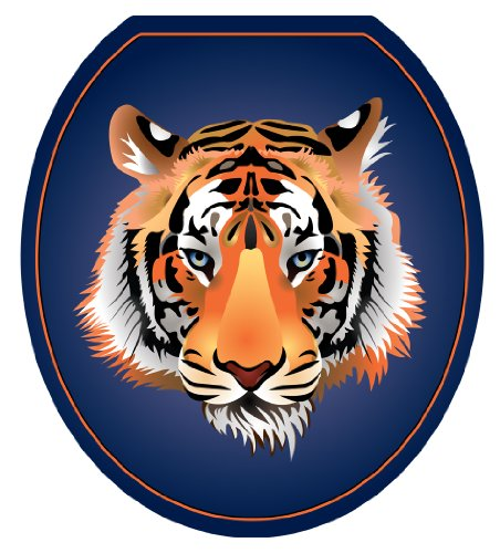 Toilet Tattoos, Toilet Seat Cover Decal,Orange Tiger, Size Round