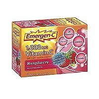 Alacer - Emergen-CのビタミンCエネルギーブスターのラズベリー 1000 mg。30パケット