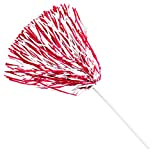 Anderson's Cheerleader Red and White Football Pom Poms, Pack of 10