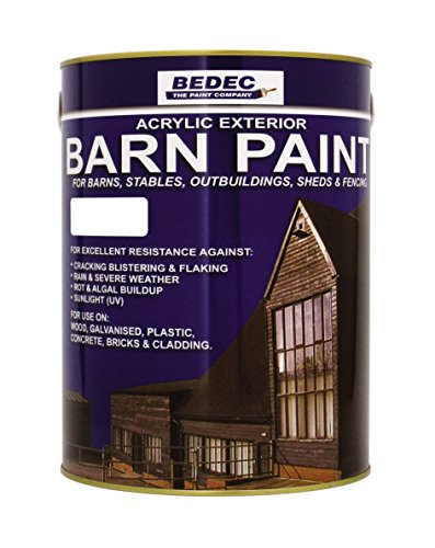 Bedec BEDE2AK0002/46 Barn Paint Semi Gloss White 5 Litr