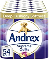 Andrex Toilet Roll - Supreme Quilted Toilet Paper, 54 Toilet Rolls