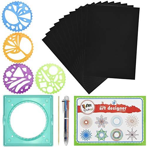 TANCUDER Spirograph Deluxe con Espirógrafo Regla Juego de Creativos para Niños Herramienta para Dibujo Geométrico Kit de Espirógrafo para Principiantes Ideal para Regalo para Niños