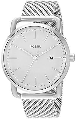 Fossil la Commuter Three-Hand Fecha Acero Inoxidable Reloj