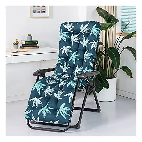 XHNXHN Sun Lounger Recliner Cushion Superweiche Verdickung Reclining Garden Chair Pad Patio Relaxer-Matte für den Außenbereich mit Rutschfester Abdeckung für Sofa/Bank/Bett