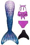 Duosilin Mädchen Meerjungfrauenschwanz Bikini Set Mermaid Tail zum Schwimmen mit Meerjungfrau...