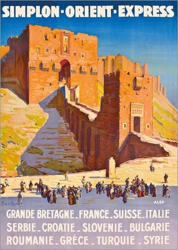 Posterlounge Acrylglasbild 50 x 70 cm: Simplon Orient Express von Joseph de La Nézière/ARTOTHEK - Wandbild, Acryl Glasbild, Druck auf Acryl Glas Bild