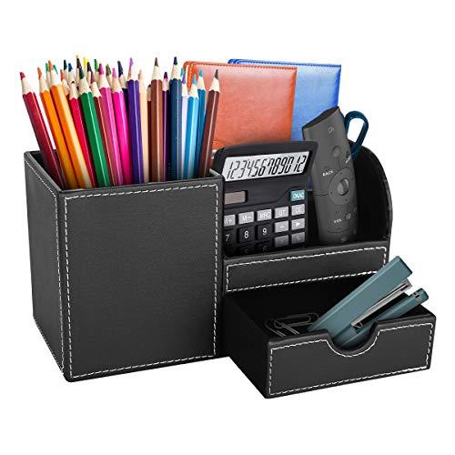 Hotokii Organizador de Escritorio, Materiales de Cuero, Lapiceros para Escritorio, Escritorio ordenado, Otganizador de Lapiz / Portalápices / Organizador de Oficina