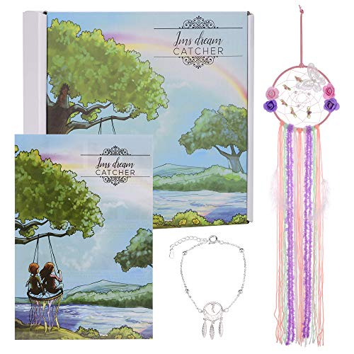 JMS DIY Dream Catcher Art kit Set with Bracelet!Make it Real DIY Dreamcatcher.These Dream Catchers Makes Your Kids Have Creative Mind, Positive Dreams, and for Room décor. Crafts for Girls Ages 8-12.