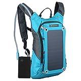 SolarGoPack Solar Powered 1.8 Liter Hydration Backpack / 7 Watt Solar Panel and 10K mAh Charging...