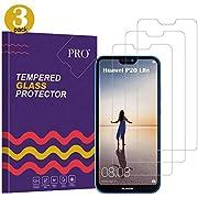 Huawei P20 Lite kugelsichere Displayschutzfolie, [3 Stück] hochwertige 2.5D gehärtetes Glas [ultra transparent] [Kratzschutz] [9H Härte] [keine Blase] [einfache Installation], Panzerglas Folie für Huawei P20 Lite